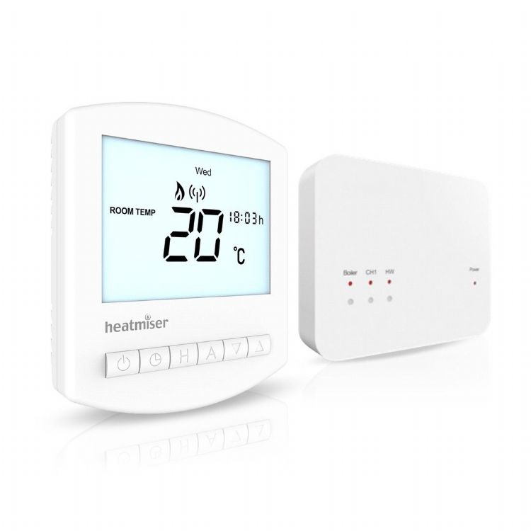 Heatmiser - Wireless Programmable Thermostat - SLIMLINE-RF KIT